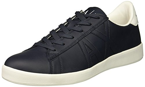 Tonal A Exchange Cut Black Low X Logo Armani Sneaker Men U11IAq