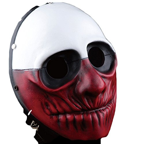 Urban Fashion Halloween & Party Mask Payday 2 Cosplay Mask (Two Face) (Adult Twoface Costume)