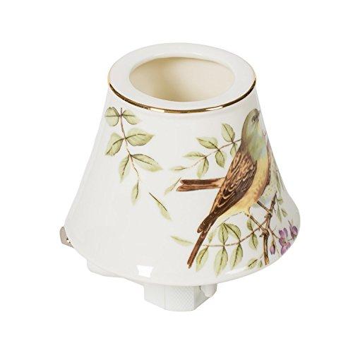 Bird on Branch Mini Teapot 3.5 x 4 Porcelain Wall Plug-In Night - Tea 203