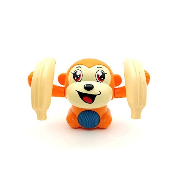 Forever Kidzz Dancing and Spinning Banana Monkey Musical Toy with Light and Sound Effects