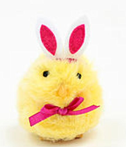 Easter Jubilee Palm Pet Yellow Chick Pink Bunny Ears Chrips Measures 4