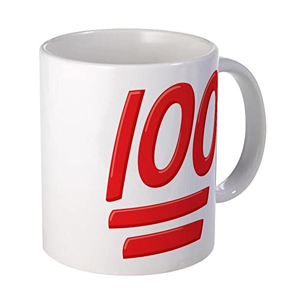 Cafepress 100 Emoji Unique Coffee Mug Coffee Cup Emoticon
