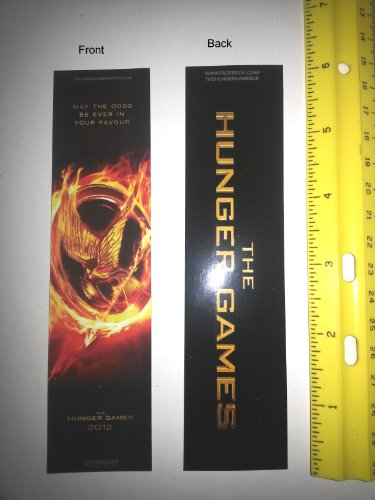 Hunger Games 2012 promotional bookmark from the UK
