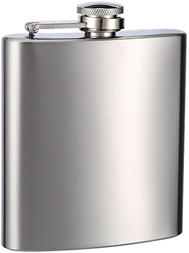 Top Shelf Flasks Personalized Custom Engraved 6oz Stainless Steel Flasks for Weddings, True Metal Etching Lasts a Lifetime, 6PK by TOP SHELF FLASKS (Image #1)