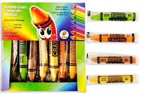 Crayon Buddies - Bombi Crayon Mexican Chewing Gum 24 individually Sealed Packs in box