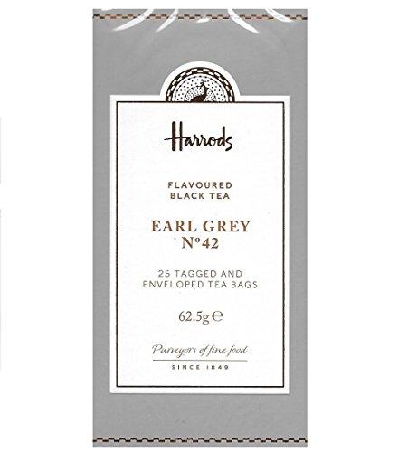 Harrods London. No. 42 Earl Grey, 25 Enveloped Tea Bags 62.5g (1 Pack) NEW RANGE Seller Product Id HEG1 - USA Stock