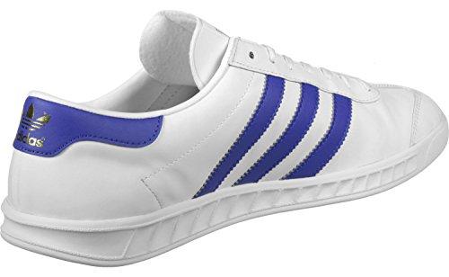adidas Hamburg, Scarpe da Ginnastica Basse Unisex – Adulto Bianco (Ftwbla / Azufue / Dormet)
