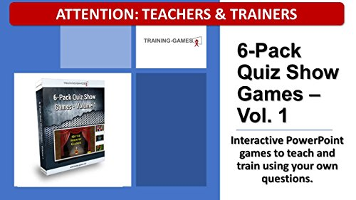 Tgi 6 Pack Powerpoint Quiz Show Games Vol  1 For Educational Programs Training Classes  And Teaching Venues  Customize And Add Your Own Questions   Single User Lic