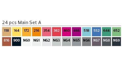 Stylefile Grafikmarker 24er Set A