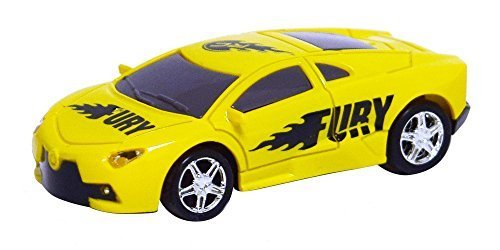 RC Pocket Racers Remote Controlled Micro Race Cars Vehicle, Fury Yellow