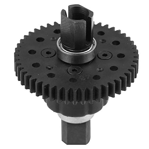 Dilwe RC Differential Gear, Plastic Metal Model Vehicle Accessory Middle Differential for RC Car(48T 1.0Mo Nylon - Differential Plastic