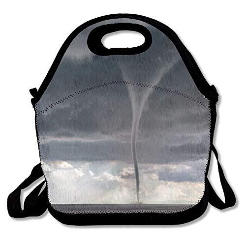 Tornado Day Storm Chaser Neoprene Lunch Bag Insulating Handbag Lunchbox Warm Lunch Pouch For School Work Office for Women/Girls/Adult/Men