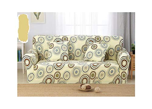 No Buy No Bye Pastoral Floral Universal Stretch Sofa Covers Furniture Protector Polyester Elastic Loveseat Couch Cover Sofa Towel 1/2/3/4-seat,14,Two seat 1pcs