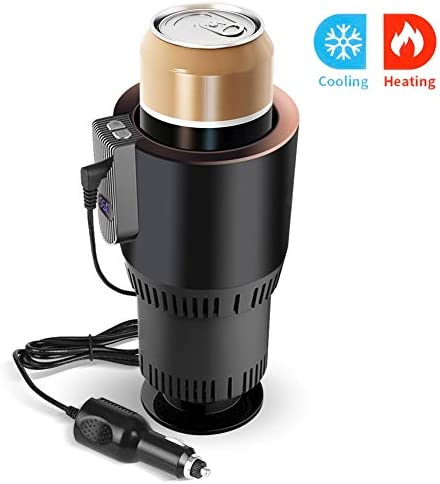VAlinks 2-in-1 Car Cup Cooler Warmer, Auto Car Heating Cooling and Heating Cup Holder, Smart Car Seat for Water Coffee Beverage Milk Warmer Heater Cooler Fits in Commuter Traveler Road Tripper Recreation
