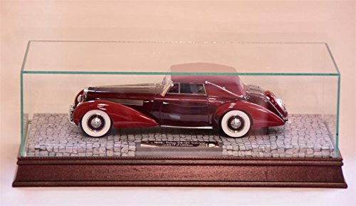 The Glass, Wood, and Mirrored Display Case for 1:18 Scale Resin Models with a base