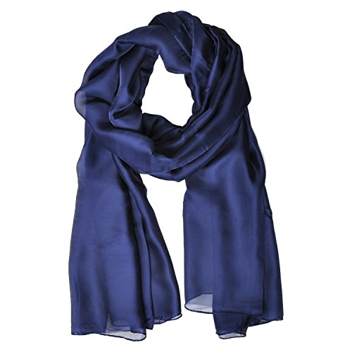 LO SHOKIM Silk Shawls and Scarfs for Women Solid Color Breathable Summer Sunscreen Wraps