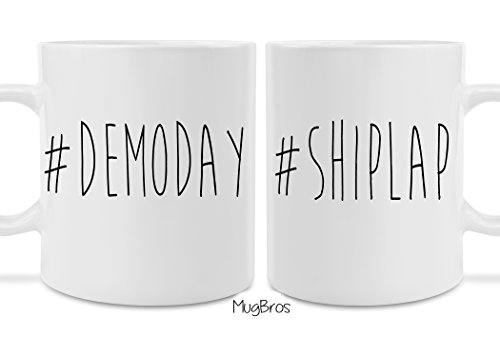 His and Hers Two Pack #Demoday #Shiplap Fixer Upper Inspired Coffee Mug Set