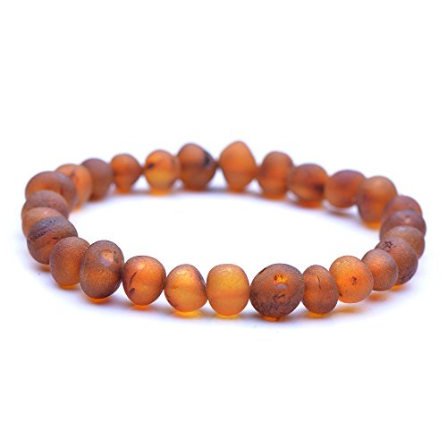 Genuine Raw Baltic Amber Bracelet for Adult - Choose Your Colors and Choose Your Size! - 3 Sizes and 10 Different Colors - 100% Authentic Baltic Amber (8.6 Inches, - Pain Bracelet $10 Balance
