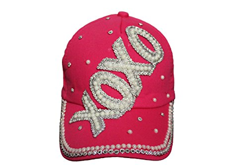 XOXO Pink Bejeweled Hat Cap ..For Teens , Ladies ....New