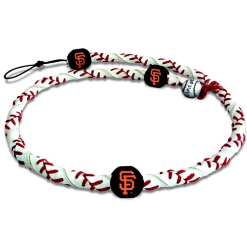 MLB San Francisco Giants Classic Frozen Rope Baseball - Leather Bracelet Baseball