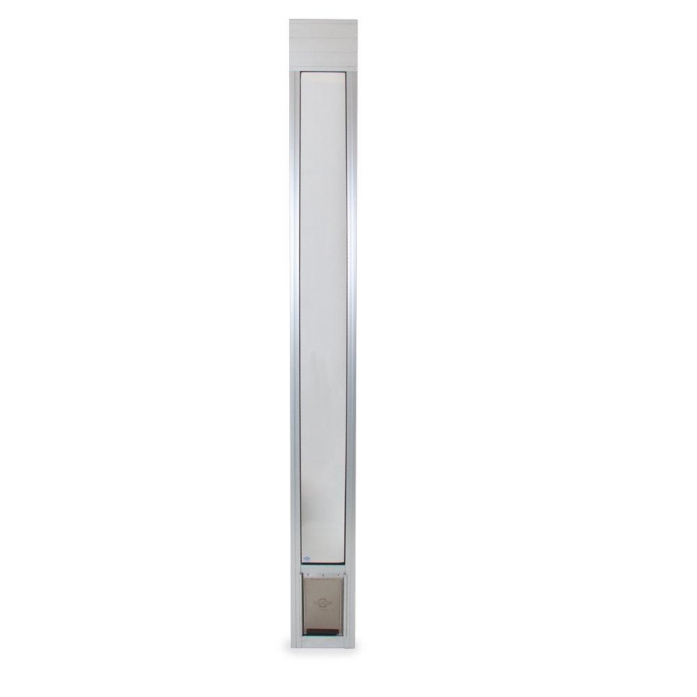 (200cm 210cm, Small, Satin) PetSafe Freedom Aluminium Patio Panel Sliding Glass Pet Door