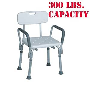 MedMobile® Bath Bench with Back Support and Removable Padded Arms