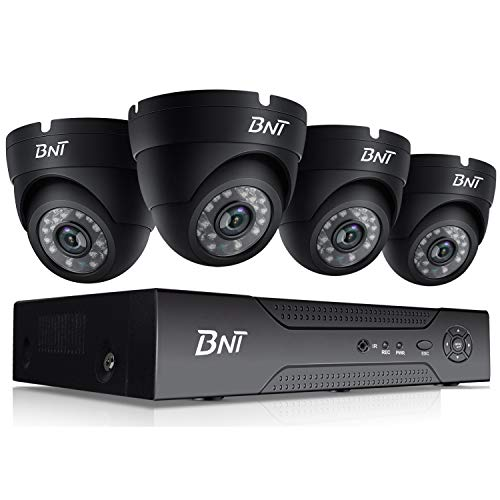 (BNT 720P 4CH Security Camera System, 4Channel DVR, with 4x720P HD Dome Indoor CCTV Camera, Night Vision Free APP Remote Access(Android/iOS), Motion Detection, No Hard Drive)