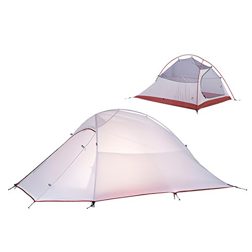 Zelt fur 2 Personen Ultraleicht Wasserdichten Zelt Silicone Fabric 4 season Double-layer Tent (silicone fabric)