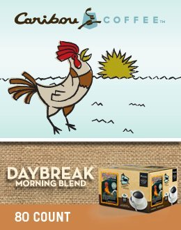 Caribou Coffee * DAYBREAK MORNING Commingle * 80 K-Cups for Keurig Brewers
