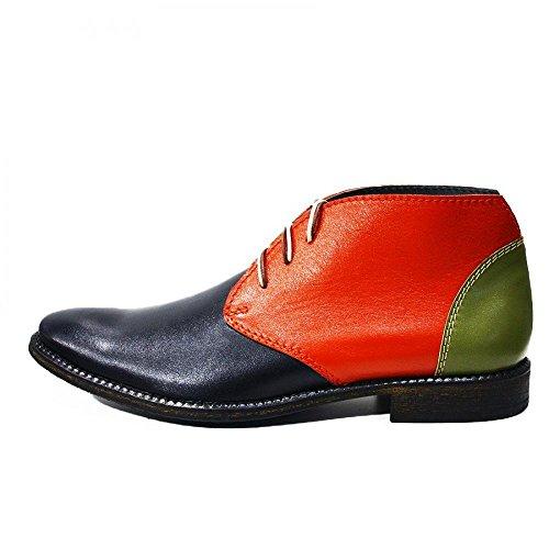 Modello Cava de Tirreni - Handmade Italian Leather Mens colorful Ankle Chukka Boots - Cowhide Smooth Leather - Lace-Up VutAN0l