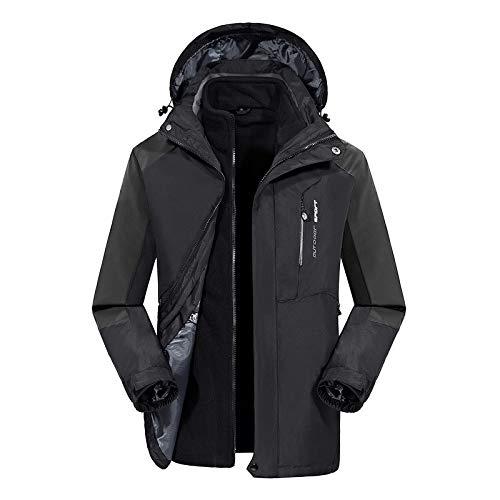 Black Da Rimovibile Esterno Uomo mens Per Cappotto Donna qYvS71