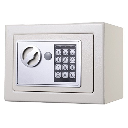 NEW Small White Digital Electronic Safe Box Keypad Lock Home Office Hotel Gun