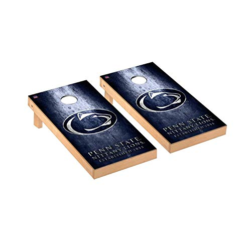 Victory Tailgate Regulation Collegiate NCAA Museum Series Cornhole Board Set - 2 Boards, 8 Bags - Penn State Nittany - Bean Nittany Lions Bag Collegiate