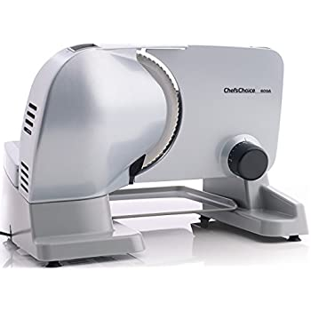 Image of Home and Kitchen Chef'sChoice 609A000 Electric Meat Slicer with Stainless Steel Blade Features Slice Thickness Control and Tilted Food Carriage Easy Clean, 7-Inch, Silver