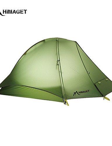FUDA tent Zelt ( Hellgr¨¹n / Orange , 1 Person ) -Feuchtigkeitsdurchl?ssigkeit / Feuchtigkeitsundurchl?ssig / Wasserdicht / Atmungsaktivit?t /