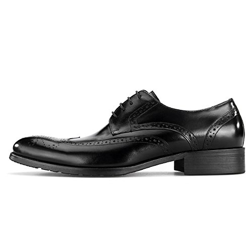 Shoes Wedding Dress Dress Oxford in da Brogue Vera Lace Uomo Casual up Scarpe Black Pelle Business 1U76wB1q