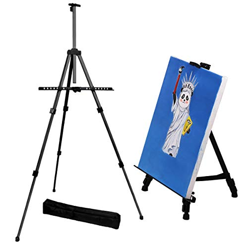 - Transon Aluminum Art Easel Stand for Table and Floor 65 inch Lightweight Adjustable with Portable Bag(Black)