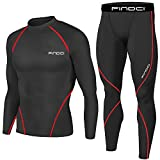 Men Compression Tops Tight Trousers Long Sleeve Shirts Long Pants Suits