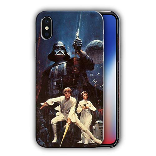 Hard Case Cover with Star Wars, Darth Vader, Luke Skywalker, Princess Leia Organa, Death Star Design Compatible with iPhone XR (star47)