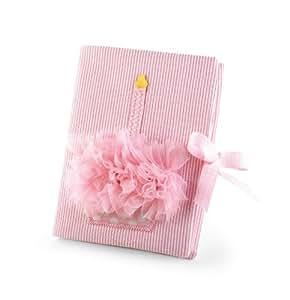 Mud Pie Baby Birthday Pink Chiffon Photo Album, Cupcake (Discontinued by Manufacturer)