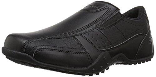 Skechers for Work Men's Elston-Kasari Food Service Shoe,black polyurethane,8.5 W US