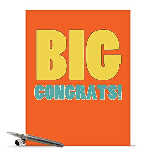J2723CGG Jumbo Funny Congratulations Card: Big Congratulations With Envelope (Extra Large Version: 8.5'' x 11'')