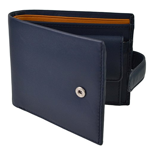 WALLET BOX Mustard Black Visconti; Collection by Tabbed Bifold Paisley LEATHER Stylish Parma Mens Blue GIFT Colbalt RZCvIqc