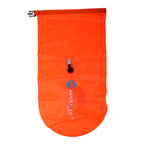 Baosity Durable PVC Roll Top Dry Bag Swimming Tow Float + Waterproof Phone Case For Open Water Swimmers and Triathletes - Orange by Baosity (Image #6)