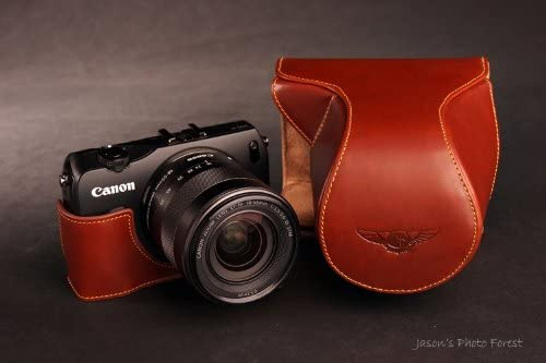 Handmade Genunie real Leather Full Camera Case and other 4 accessories for CANON EOS-M