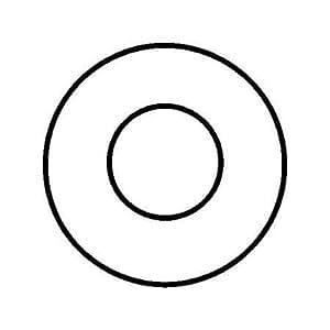 Roseta, fijo, FAL, diámetro 130mm