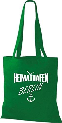 Tela De Bolso Kelly Algodón Para Verde Shirtstown Mujer S6Exwq