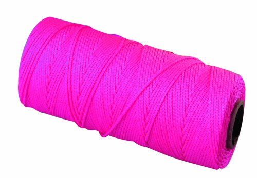 - Bon 11-882 18 No.250-Feet EZC Bricklayers Braided Nylon Line, Neon Pink