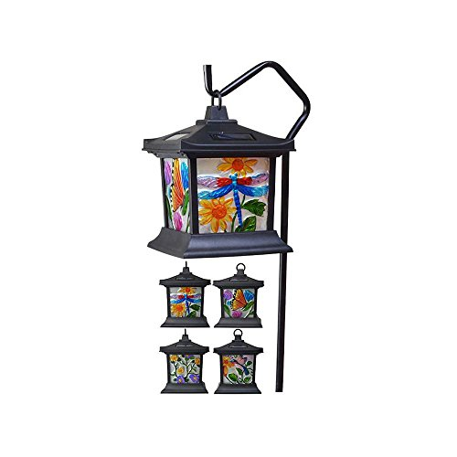 Outdoor Lighting Fixtures Stained Glass in US - 6