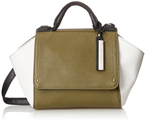 Kenneth Cole Reaction Structure Small Satchel, Cadet Olive/Chalk/Black, One Size